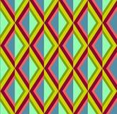 Αφηρημένο υπόβαθρο rhombuses στα φωτεινά ρόδινα, πράσινα και μπλε χρώματα Στοκ Εικόνες