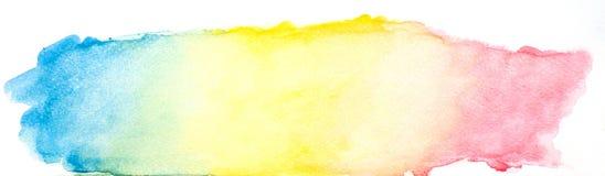 Αφηρημένο υπόβαθρο watercolor, ζωηρόχρωμα εμβλήματα σχεδίου χρωμάτων χεριών watercolor διανυσματική απεικόνιση