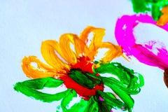 Αφηρημένο υπόβαθρο watercolor κτυπημάτων βουρτσών χρωμάτων στο άσπρο pape στοκ εικόνα