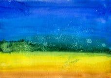 Αφηρημένο υπόβαθρο Watercolor κλίσης Στοκ Φωτογραφίες