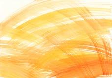 Αφηρημένο υπόβαθρο watercolor με τα κτυπήματα βουρτσών στα πορτοκαλιά χρώματα Στοκ φωτογραφία με δικαίωμα ελεύθερης χρήσης
