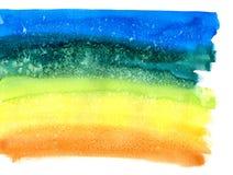 Αφηρημένο υπόβαθρο watercolor ουράνιων τόξων Στοκ Εικόνα