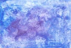 Αφηρημένο υπόβαθρο watercolor στα μπλε χρώματα Στοκ Φωτογραφία