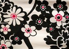 Αφηρημένο υφαντικό σχέδιο υφάσματος λουλουδιών Στοκ Εικόνες