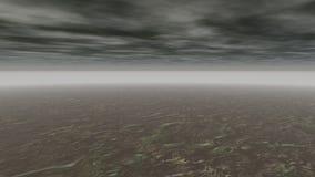 Αφηρημένο φανταστικό γκρι τοπίων απόθεμα βίντεο