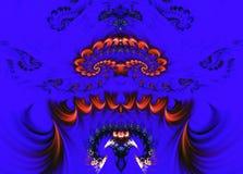 Αφηρημένο φανταστικό υπόβαθρο fractals στο μπλε υπόβαθρο διανυσματική απεικόνιση