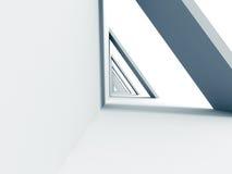 Αφηρημένο φουτουριστικό αρχιτεκτονικό υπόβαθρο σχεδίου Στοκ Φωτογραφίες