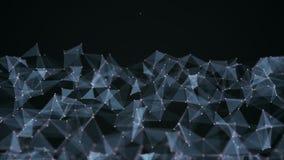 Αφηρημένο φουτουριστικό δίκτυο υποβάθρου τεχνολογίας και επιστήμης, υπόβαθρο πλεγμάτων ακτινίου ζωτικότητας 4K διανυσματική απεικόνιση