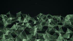 Αφηρημένο φουτουριστικό δίκτυο υποβάθρου τεχνολογίας και επιστήμης, υπόβαθρο πλεγμάτων ακτινίου ζωτικότητας 4K ελεύθερη απεικόνιση δικαιώματος