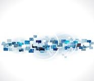 Αφηρημένο φουτουριστικό επιχειρησιακό υπόβαθρο κόσμων & τεχνολογίας, απεικόνιση Στοκ εικόνες με δικαίωμα ελεύθερης χρήσης