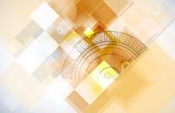 Αφηρημένο φουτουριστικό επιχειρησιακό υπόβαθρο τεχνολογίας υπολογιστών Στοκ φωτογραφία με δικαίωμα ελεύθερης χρήσης