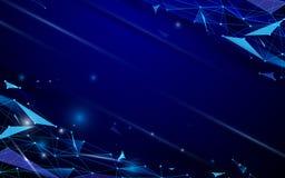 Αφηρημένο φουτουριστικό υπόβαθρο έννοιας τεχνολογίας πολυγώνων και γραμμών Στοκ Εικόνες