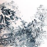 Αφηρημένο φουτουριστικό υπόβαθρο στο μπλε, το λευκό και το γκρι Στοκ Εικόνες
