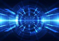 Αφηρημένο φουτουριστικό ψηφιακό υπόβαθρο τεχνολογίας διάνυσμα απεικόνισης Στοκ Φωτογραφία