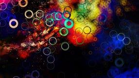 Αφηρημένο φρέσκο υπόβαθρο σχεδίου με το ελαφρύ σχέδιο κύκλων και τα λαμπρά χρώματα Στοκ εικόνα με δικαίωμα ελεύθερης χρήσης