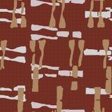 Αφηρημένο φυλετικό σχέδιο ύφανσης με την καραμέλα και τις ασημένιες ανώμαλων μορφές χρώματος και Άνευ ραφής διανυσματικό σχέδιο σ διανυσματική απεικόνιση