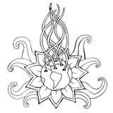Αφηρημένο φυτό Περιγραμματικό συρμένο χέρι Doodle πράσινος κόσμος έννοιας Στοκ φωτογραφία με δικαίωμα ελεύθερης χρήσης