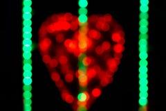 Αφηρημένο φως bokeh με το σχήμα καρδιών Στοκ εικόνα με δικαίωμα ελεύθερης χρήσης