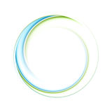 Αφηρημένο φωτεινό γαλαζοπράσινο ιριδίζον λογότυπο κύκλων ελεύθερη απεικόνιση δικαιώματος