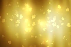 Αφηρημένο φωτεινό υπόβαθρο καρδιών bokeh Στοκ φωτογραφία με δικαίωμα ελεύθερης χρήσης