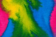 Αφηρημένο φωτεινό υπόβαθρο watercolor Ομαλές μεταβάσεις από μπλε σε πράσινο σε κατασκευασμένο χαρτί στοκ φωτογραφία