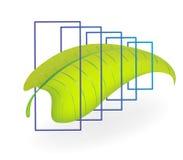 αφηρημένο φύλλο απεικόνιση αποθεμάτων
