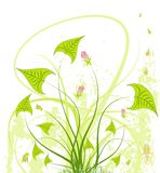 αφηρημένο χάος floral διανυσματική απεικόνιση