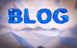 Αφηρημένο χαμηλός-πολυ υπόβαθρο Έννοια λέξης τρισδιάστατο κείμενο σφαιρών απεικόνισης blog Στοκ φωτογραφία με δικαίωμα ελεύθερης χρήσης