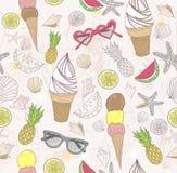 αφηρημένο χαριτωμένο καλοκαίρι προτύπων απεικόνιση αποθεμάτων