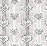 Αφηρημένο χαριτωμένο σχέδιο καρδιών ελεύθερη απεικόνιση δικαιώματος
