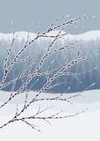 Αφηρημένο χειμερινό τοπίο Στοκ εικόνες με δικαίωμα ελεύθερης χρήσης