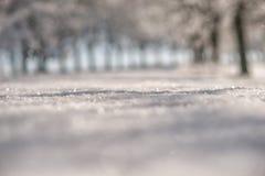 Αφηρημένο χειμερινό υπόβαθρο, snowflakes και χιονίζοντας χρόνος Στοκ εικόνες με δικαίωμα ελεύθερης χρήσης