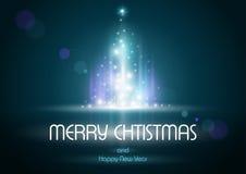 Αφηρημένο χριστουγεννιάτικο δέντρο αστραπής ελεύθερη απεικόνιση δικαιώματος