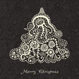 Αφηρημένο χριστουγεννιάτικο δέντρο Στοκ Εικόνες