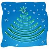 Αφηρημένο χριστουγεννιάτικο δέντρο στροβίλου κυλίνδρων Στοκ Εικόνες