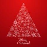Αφηρημένο χριστουγεννιάτικο δέντρο φιαγμένο από snowflakes Στοκ φωτογραφίες με δικαίωμα ελεύθερης χρήσης