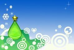 Αφηρημένο χριστουγεννιάτικο δέντρο απεικόνιση αποθεμάτων
