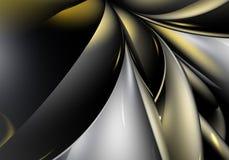 αφηρημένο χρυσό ασήμι ανασ&kapp Στοκ Φωτογραφίες