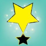 Αφηρημένο χρυσό αστέρι bokeh στο μπλε υπόβαθρο Στοκ εικόνες με δικαίωμα ελεύθερης χρήσης