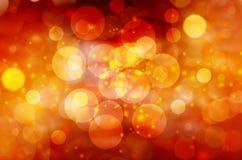 Αφηρημένο χρυσό θολωμένο υπόβαθρο Χριστουγέννων φω'των στοκ φωτογραφίες με δικαίωμα ελεύθερης χρήσης