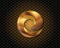 Αφηρημένο χρυσό διάνυσμα λογότυπων Στοκ Φωτογραφίες