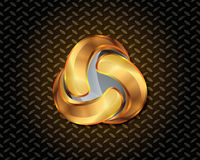 Αφηρημένο χρυσό διάνυσμα λογότυπων Στοκ Φωτογραφία
