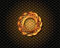 Αφηρημένο χρυσό διάνυσμα λογότυπων Στοκ εικόνα με δικαίωμα ελεύθερης χρήσης