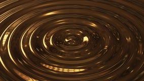 Αφηρημένο χρυσό τρισδιάστατο κύμα κυματισμών βρόχων απόθεμα βίντεο