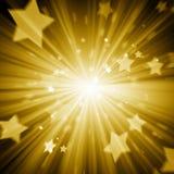 Αφηρημένο χρυσό υπόβαθρο αστεριών Στοκ Φωτογραφία