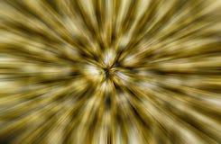 Αφηρημένο χρυσό υπόβαθρο θαμπάδων ζουμ στοκ εικόνα