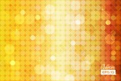 Αφηρημένο χρυσό υπόβαθρο με τους κύκλους Στοκ Φωτογραφία