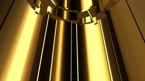Αφηρημένο χρυσό υπόβαθρο σκηνής Στοκ Φωτογραφία
