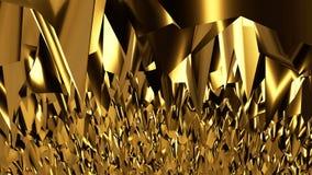 Αφηρημένο χρυσό υπόβαθρο σκηνής Στοκ φωτογραφία με δικαίωμα ελεύθερης χρήσης