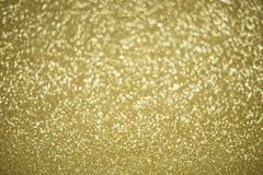 Αφηρημένο χρυσό υπόβαθρο φω'των Defocused Στοκ φωτογραφία με δικαίωμα ελεύθερης χρήσης